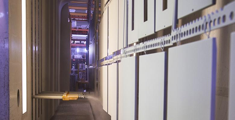 Dettagli dell'impianto per la verniciatura a polvere